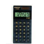 Calculadora de Bolso PC987-B - 8 d�gitos, MODELO SLIM BLACK PIANO E N�MEROS DOURADOS, solar/bat., (G10)