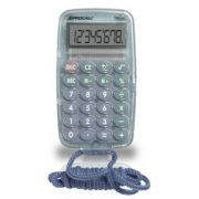 Calculadora de Bolso Procalc TR03-G - 8 dígitos, cor translúcida cinza, bateria, acompanha uma corda (G10)