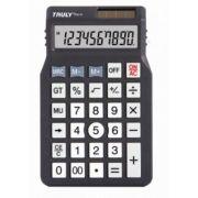 Calculadora de mesa Truly 338-10 - 10 dígitos, solar/bateria, teclas grandes (G10)