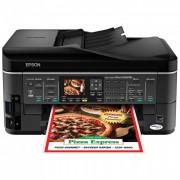 Multifuncional Epson Stylus TX620FWD Impressora Duplex Color de Alta Velocidade, Fax, Scanner, Copiadora, Rede Eternet, WiFi, Bluethooth, Cartão de Memória, Display (100% compatível com Bulk)