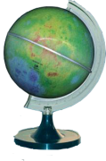 Globo Lunar Libreria Lua Colorido, 110v, Iluminado 21cm de diâmetro, base Plástico, Principais Crateras.