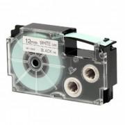 Fita Rotuladora Casio XR-12WE1 12mm preto no branco para etiquetadora KL