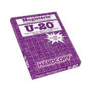 Papel Hectográfico Estêncil com matriz Menno Gráfica Hardcopy Magistério U20 medidas de 22x33cm, caixa com 100 jogos