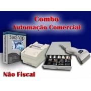 Combo para Automação Comercial Não Fiscal: Programa para Sex Shop e confecções + Leitor de Código de Barras + Impressora Matricial + Gaveteiro