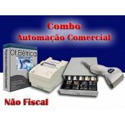 Combo para Automação Comercial Não Fiscal: Programa para Oficina Elétrica + Leitor de Código de Barras + Impressora Matricial + Gaveteiro