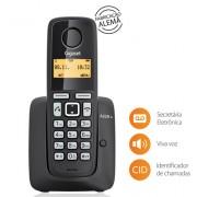 Telefone sem Fio Gigaset A220 DECT 6.0 Display 1,4 , Identificador de Chamadas, secret�ria eletr�nica, viva voz Preto