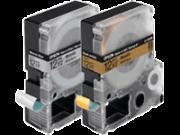 Cartucho de Fita LC-4WBQ5 p/ Rotuladora Eletrônica Epson LW300 e LW400 - 12mm / Preto no Branco - Tecido