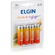 Pilha Elgin Zinco-Carvão AA - c/ 4 unidades cod. 82184