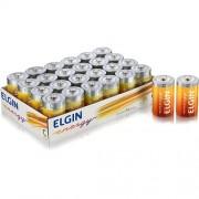 Pilha Elgin C Zinco-Carvão - Bandeja c/24 unidades, shrincado de 2 em 2 cod. 82188