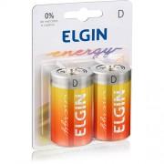 Pilha Elgin D Zinco-Carvão -Blister c/2 unidades cod. 82189