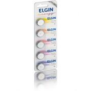 Bateria de Lithium Elgin 3V CR2025 - Cartela com 5