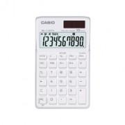 Calculadora Casio SL-1110 TV-WE Branca Alimentação Solar e Pilha - Alta Qualidade