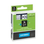 Fita Poliéster Dymo auto-adesiva p/ Rotulador Eletrônico Profissional (9mm x 7 mts) - preto/ branco - cód. 41913
