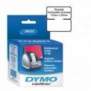 Módulo p/ Dymo Label Writer 450 Aplicação Diversa 13mm X 25 mm (1/2´x 1´) 1 rolo com 1000 etiquetas