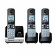 Telefone sem fio com Backup de energia Panasonic KX-TG6713LBB Combo telefone + 2 ramais, viva voz