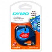 Fita Poli�ster Dymo auto-adesiva p/ Rotulador Eletr�nico LetraTag (12mm x 4 mts) - preto/vermelho - c�d. 91333