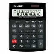 Calculadora de mesa Sharp CH312 - 12 dígitos, Cálculo Grande Total, Cálculo de Markup, Solar e bateria