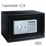 Cofre Safewell Eletronic Safe 20EK - Medidas Externas (AxCxP): 200x310x200mm, Capacidade: 8L, Senha: 3 a 8 dígitos