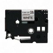 Fita p/ PT Brother TZ-211 - Largura: 6mm, Preto sobre Branco, Comprimento: 8m