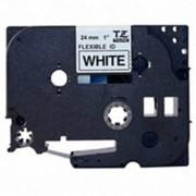Fita Flexível Brother TZFX-251 - Largura: 24mm, Preto sobre Branco, Comprimento: 8m