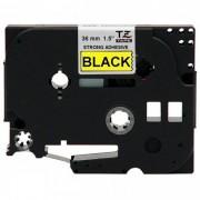 Fita p/ Rotuladora Brother TZS-661 - Largura: 36mm, Preto sobre Amarelo, Comprimento: 8m