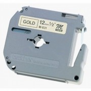 Fita p/ Rotulador PT Brother M-831 - Largura: 12mm, Preto/Dourado, Comprimento: 8m