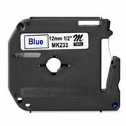 Fita p/ Rotulador PT Brother MK-233 - Largura: 12mm, Azul/Branco, Comprimento: 8m