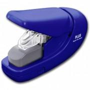 Grampeador Sem Grampo Plus Japan PL-SL106AB Azul, entrelaça o papel até 5 folhas 75g