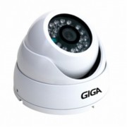 Câmera Giga Security IR Dome Branca Interna Digital 1/4 600 TVL, Lente 2,8