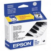 Cartucho de Tinta Preta Epson Original S187093-AL p/ Stylus Color 400 / 500 / 600 / Stylus Photo / 700 / EX (Cod: 6352)