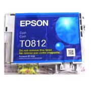 Cartucho de Tinta Ciano Hi-Definition  Epson Original T081220-AL p/ Stylus Photo R270 / R290 / T50 / TX720WD / SP1410 (Cod: 6490)