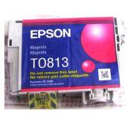 Cartucho de Tinta Magenta Hi-Definition Epson Original Embalagem em Blister T081320-AL p/ Stylus Photo R270 / R290 / T50 / TX720WD / SP1410 (Cod: 6492)
