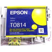Cartucho de Tinta Amarela Hi-Definition Epson Original T081420-AL p/ Stylus Photo R270 / R290 / T50 / TX720WD / SP1410 (Cod: 6494)