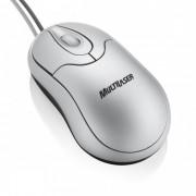 Mini Mouse Multilaser �ptico Emborrachado USB Prata MO020