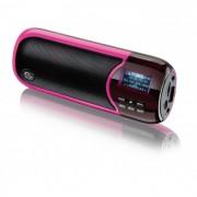Caixa de Som Portátil 2.0 Multilaser SP126 - 10W RMS, Display, MP3, Cor: Rosa