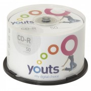 CD-R Youts Printable White - Cake com 50 discos