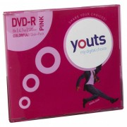 DVD-R Youts Slim Colorful Pink