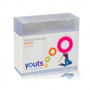 Embalagem para CD Jewel Box Youts Transparente - Pack com 5