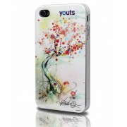 Capa para iPhone 4 Youts - Street Art Collection - Árvore - Cod.: 63941