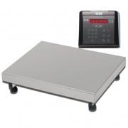 Balança Industrial Plataforma Digital de Aço Inox 304 Ramuza Capacidade de 200Kg base de 50x50cm IDR de ABS com Bateria