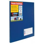Pasta Catalogo Chies c/Colchete C/10 Sacos - Azul Royal- Ref.: 2534-5