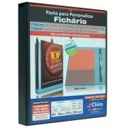 Pasta Chies para Personalizar - Fichário - 2 Argolas - A4 - Preto - Ref.: 1712-8