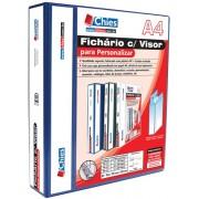 Fichário Chies com Visor para Personalizar - 4 Argolas - A4 - Azul Royal - Ref.: 1402-8