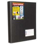 Pasta Catálogo Chies A4 c/ 25 refis e 2 Porta Cartões Preta Fab.1169