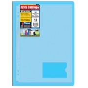 Pasta Catálogo Chies com Presilha Plástica - Azul - Ref.: 4032-4