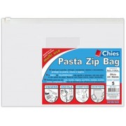 Pasta Chies Zip Bag - Of�cio / A4 / Malote - Ref.: 2783-7 - pacote c/5 unidades