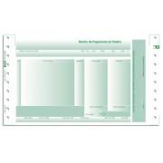 Recibo Pgto Salário Chies sem Envelope c/Carbono Formato: 14x24 - 02 via Verde (LAB2) - Ref.: 1751-7