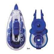 Kit Corretivo em Fita Whiper Slide + Refil Plus Japan - fita c/ 5mm e fita 12M + refill 12m (24m), cor azul