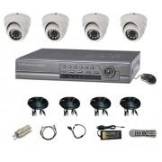 Kit DVR Stand Alone Ventura VDVR-400 completo para 4 câmeras + DVR