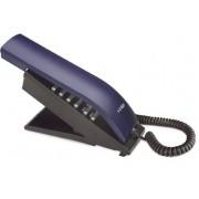 Telefone com Fio T-Klar TK-BEO Designer moderno e diferenciado, teclado alfanumérico, ajuste de volume da campainha, redial, Cor: Azul/Preto